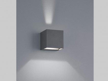Up & Down LED Außenwandleuche aus ALU in anthrazit Kubus Gartenlicht IP54, H 8cm - Vorschau 5