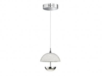 LED Pendelleuchte Chrom Acrylglas Crush-Optik Ø 21, 5cm Wohnraumleuchte Esstisch - Vorschau 2