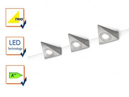 Trio Wandleuchte Wandspot nickel matt LED mit Schalter 3W Wandlampe