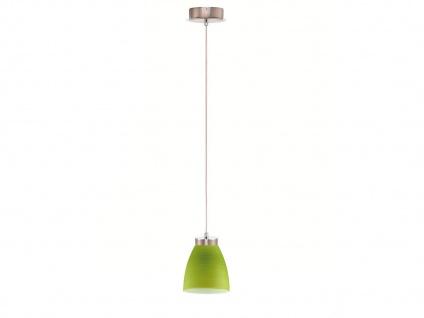 LED Pendelleuchte Glasschirm grün gewischt, Hängelampe Pendel Esstisch Küche