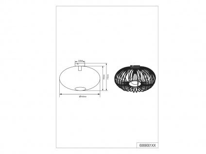 Moderne Metallschirm Silber Deckenleuchte - Wohnzimmerlampe & Schlafzimmerlampe - Vorschau 4