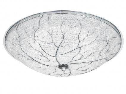 Deckenleuchte Chrom mit Acrylgeflecht rund Ø 48cm 20W LED - Design Bürolampen