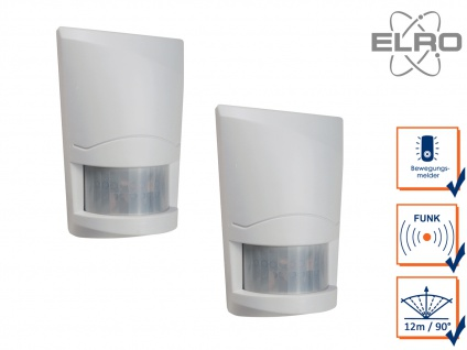 2 Bewegungsmelder 12m/90° ELRO AG4000 Alarmsystem mit Wählgerät Hausalarmanlagen