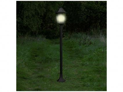 125cm hohe LED Wegeleuchte, Gartenlaterne aus Aluminium schwarze Standleuchte