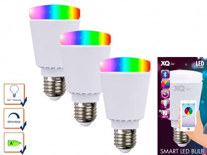 3er-Smart LED Bulb Glühbirne Bluetooth Farbwechsel Stimmungslicht App-Steuerung