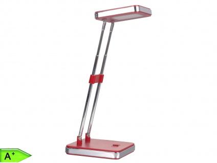 Eckige LED Schreibtischleuchte 2, 5W, rot, doppelt schwenkbar, Ranex