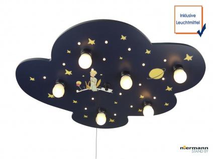 LED Kinder Deckenleuchte mit 6 LED Sternenhimmel Zugschalter für Schlummerlicht