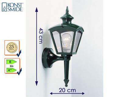 Konstsmide Wandleuchte außen, Alu grün, Gartenlampe, Laterne, Außenlampen E27