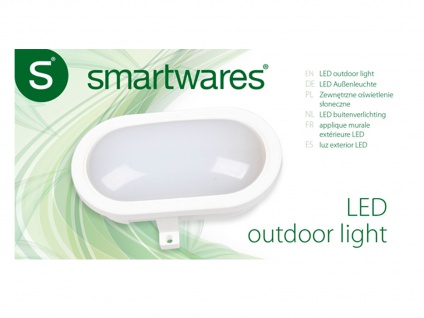 LED Wandleuchte Außenleuchte weiß, 450 Lumen, 4000 Kelvin, IP44 - Vorschau 5