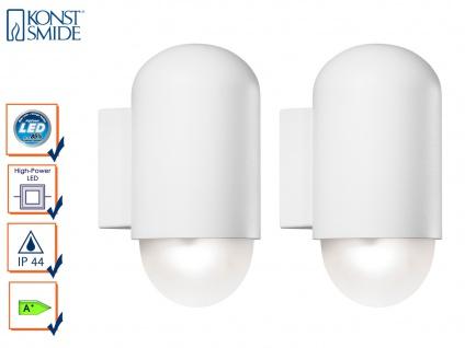 2er-Set HP-LED Wandleuchten SASSARI IP44, 4W, 280 Lm Außenleuchte