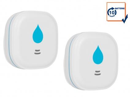 2er-Set Wassermelder 10-Jahres-Batterie Wasseralarm Wasserwächter 85dB