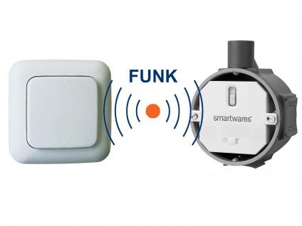 Funk Schalter Set = Funk-Einbauschalter + Funk-Wandschalter Fernbedienung