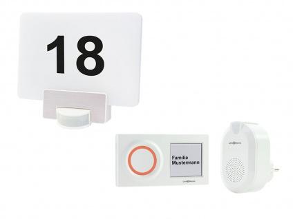 1 Familienhaus drahtlos Türgong Klingelanlage mit LED Hausnummernleuchte für App