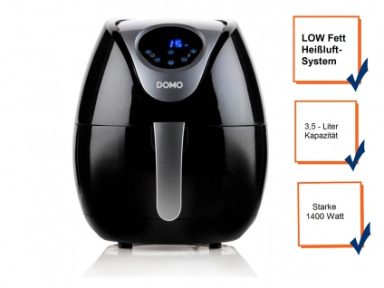 Digitale 3, 5 Liter Heißluftfritteuse, frittieren ohne Öl + ohne Fett LOW FETT - Vorschau 3
