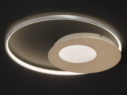 Design LED Deckenlampe Chrom / Gold-Messing dimmbar Ø 60, 5cm - fürs Wohnzimmer