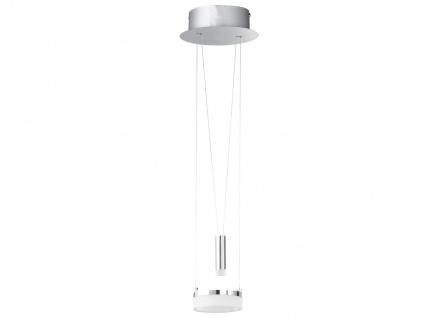 Dimmbare & höhenverstellbare Design LED Hängeleuchte rund Ø18cm, Jojo beleuchtet