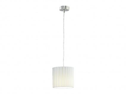 Honsel Pendelleuchte mit Lampenschirm Boxplissee weiß Ø 18cm, Hängelampe mit LED