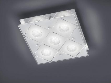 LED Deckenleuchte, Wandleuchte mit Lampenschirm Weiß aus Kristall Glas satiniert