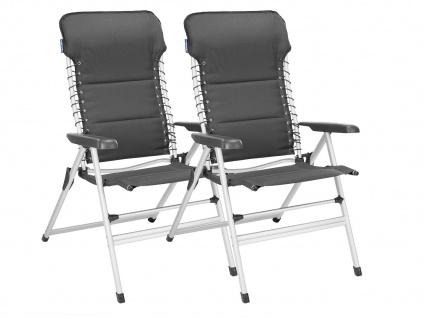 SET 2 stabile bequeme Balkonstühle klappbar Liegestuhl Campingstühle Klappstühle - Vorschau 2