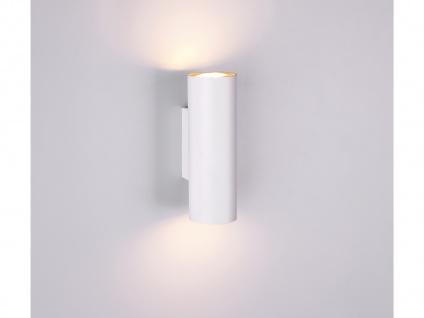 Wandstrahler Up and Down für Innen Metall Weiß mit 2 dimmbaren LEDs - Wandspot