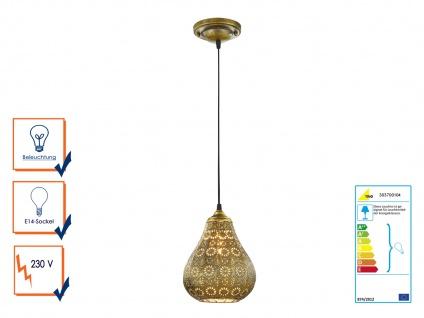 Pendelleuchte Orientalisch Marrakesch Marokko Design für Esszimmer Altmessing