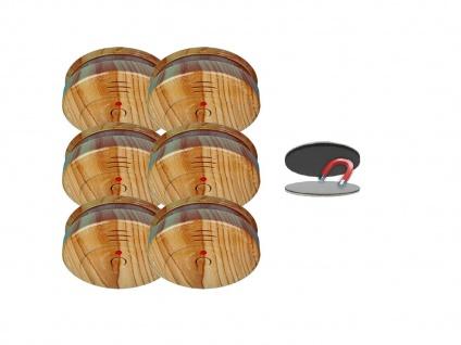 6er SET Rauchmelder Holzoptik 5 Jahres Batterie & Magnetbefestigung, Feueralarm - Vorschau 2