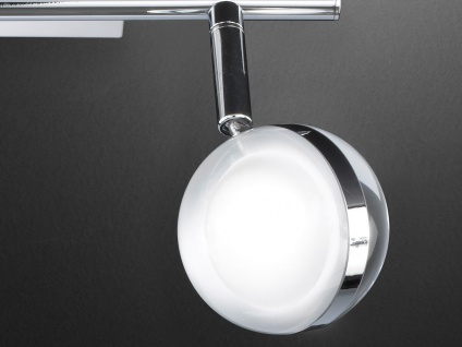 LED Deckenleuchte, Deckenstrahler Retro, Spots schwenkbar, Chrom, Wofi-Leuchten - Vorschau 3