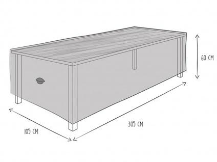 Gartenmöbel Schutzhülle Abdeckung für Gartentisch 305 x 105cm, wetterfeste Plane