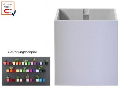 Kunststofftopf mit Magnet Ø 9cm Hellgrau, Wandaufbewahrung Wanddeko, KalaMitica