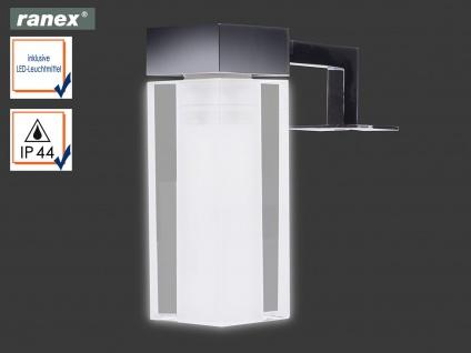 Spiegelleuchte EMPOLI mit LED, Lampenschirm Glas rund und eckig, Badezimmerlampe