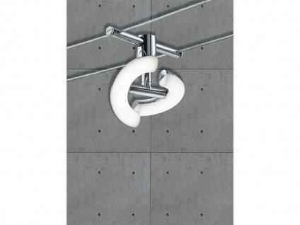 TRIO LED Deckenleuchte Seilsystem 5 Strahler Rund Chrom 5 Meter, Decken Lampen - Vorschau 3