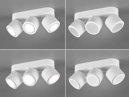 LED Deckenstrahler 3-flammig Weiß schwenkbare Deckenlampen für Flur und Diele - Vorschau 5