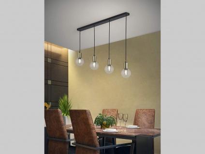 Designer LED Pendellampe bis 120cm höhenverstellbar in schwarz matt/bronze, E14