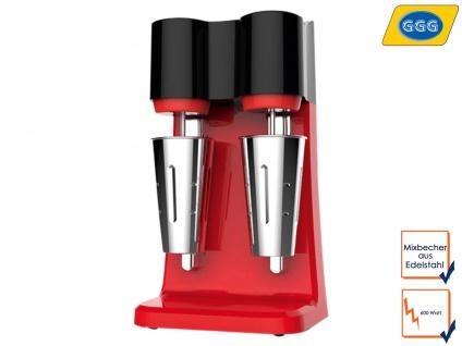 Gastro Doppel Mixer Edelstahl Becher fester Stand, Profi Cocktail Mixer Shaker