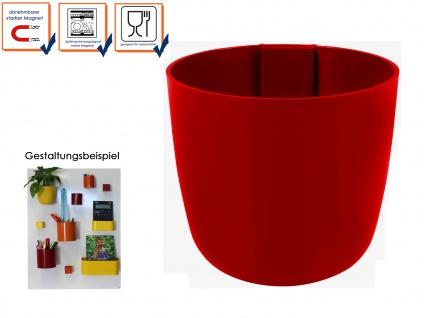 Kunststofftopf mit Magnet Ø 15 cm Rot, Wandaufbewahrung Wanddeko, KalaMitica