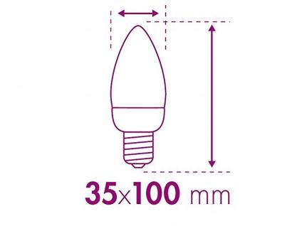 FILAMENT-LED Kerze matt E14, 2 Watt, 190 Lumen, 2700 Kelvin, warmweiß - Vorschau 5