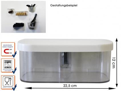 Kunststofftopf mit Deckel und Magnet, B. 22cm Klar, Wandaufbewahrung, KalaMitica