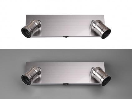 Moderner Wandstrahler für den Innenbereich mit 2 schwenkbaren E27 Spots Silber - Vorschau 4