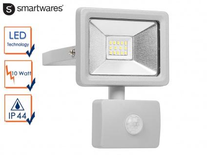 10W LED Strahler Fluter Bewegungmelder 10 Meter Scheinwerfer Wandstrahler außen
