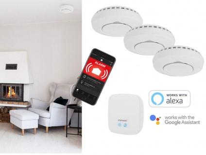 Smarthome Funkrauchmelder mit ALARM per APP aufs Smartphone & Handy über Gateway
