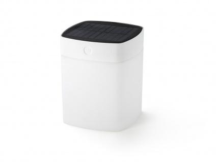 Solar LED Leuchte Weiß 3-Stufen Dimmer Höhe 14, 5cm IP44 Terrassenbeleuchtung - Vorschau 2