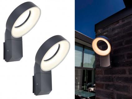 Hochwertige LED Außenbeleuchtung für Wand 2 Outdoor Wandstrahler mit rundem Kopf