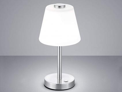Elegante dimmbare LED Nachttischlampe TOUCH Nickel matt & Lampenschirm in weiss - Vorschau 5