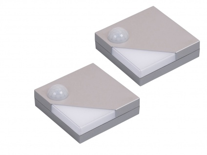 2 Stk. Batteriebetriebene Schrankleuchten LED Bewegungs-/Dämmerungssensor 0, 16W - Vorschau 2