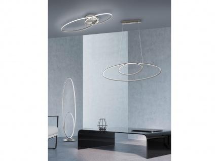 Dimmbare LED Ringleuchte für den Flur stehend, flache ovale Stehlampe Wohnzimmer - Vorschau 4