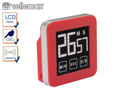 Digitaler Timer mit Touchscreen, Countdown Countup, Küchentimer Eieruhr Alarm
