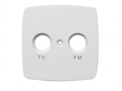 TV & FM Abdeckung aus Kunststoff für den Innenbereich, in weiß, GAO