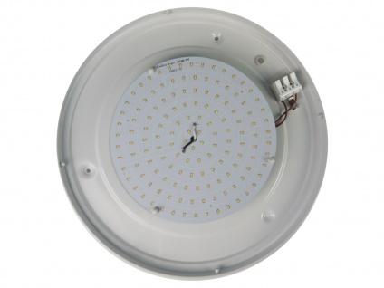 LED Küchenlampe Ø25cm Schliffglas satiniert Dekorring Chrom LED Korridorleuchte - Vorschau 4