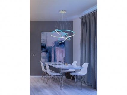 Multifunktionale WIZ LED Pendelleuchte Silber Ø 80cm für Fernbedienung & App