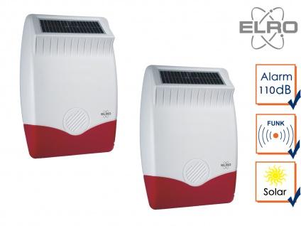2x Solar außen Sirene für ELRO Alarmanlage AP5500 - Alarmgeber Hausüberwachung